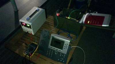Complete Guerilla VoIP prototype running at 13.8V